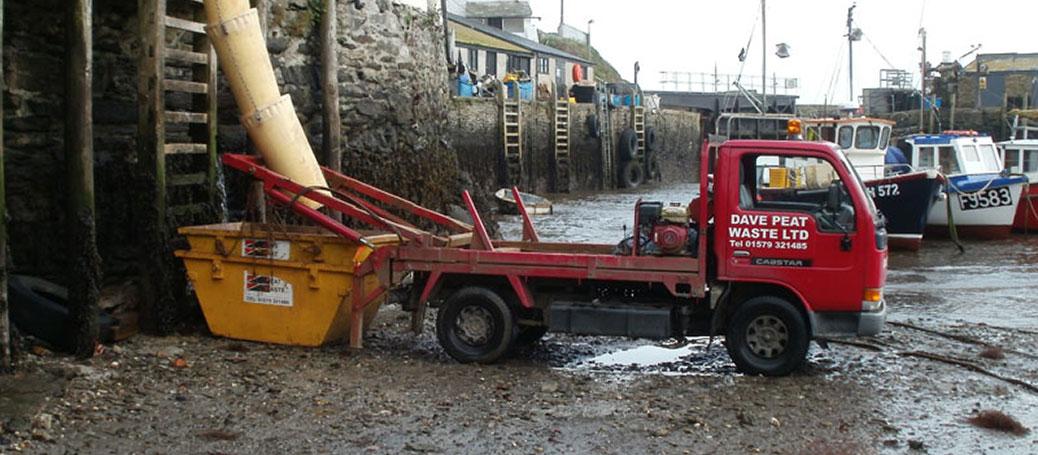 Dave Peat Narrow Access Tipper Truck Skip Hire